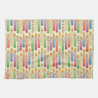 """Make a Wish"" Birthday Candles Kitchen Towel"