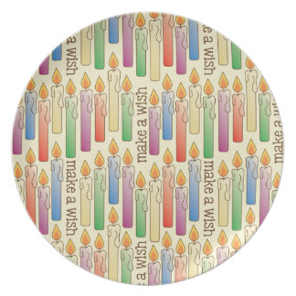 """""""Make a Wish"""" Birthday Candles Plate"""