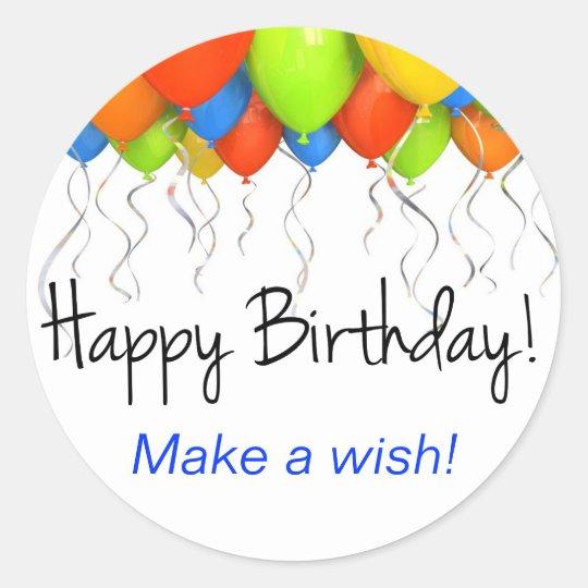 Make a Wish Birthday Stickers