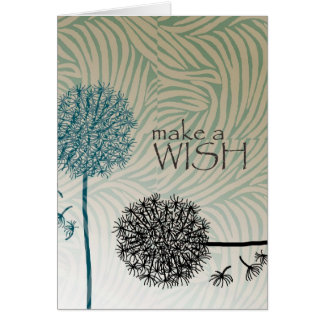 Make A Wish Dandelions Card