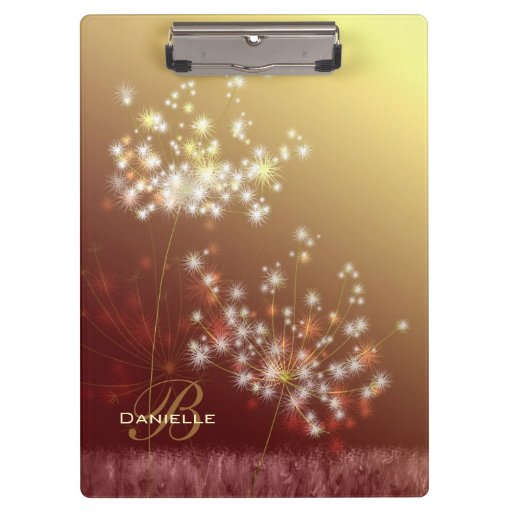 Make a Wish Fall Dandelions Monogram Clipboards