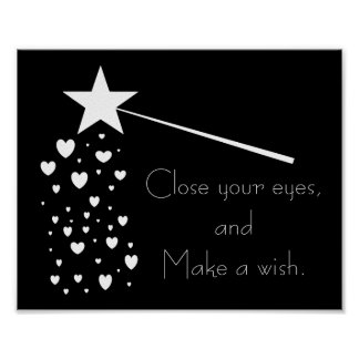 Make a Wish Frameable Poster