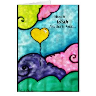 Make A Wish Greetings Card