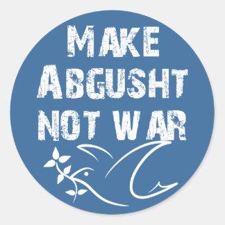 Make Abgusht Not War Classic Round Sticker
