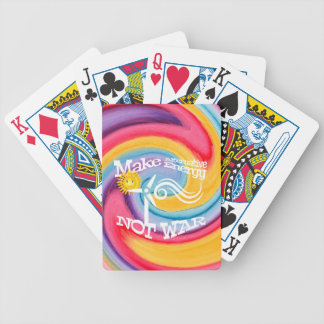 Make Alternative Energy Not War Tie Dye Bicycle Playing Cards