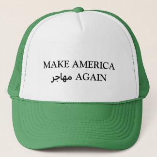 MAKE AMERICA مهاجر AGAIN TRUCKER HAT