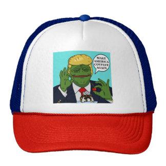 Make America Covfefe Again Pepe Trump AOk BallCaps Trucker Hat