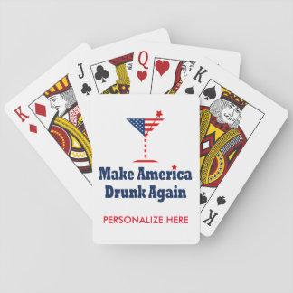 MAKE AMERICA DRUNK AGAIN PLAYING CARDS