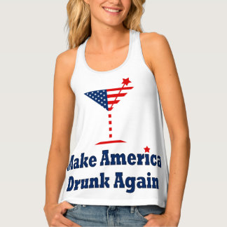 MAKE AMERICA DRUNK AGAIN TANK TOP