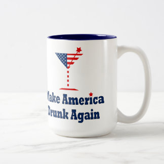 MAKE AMERICA DRUNK AGAIN Two-Tone COFFEE MUG