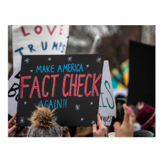 Make America Fact Check Again Postcard
