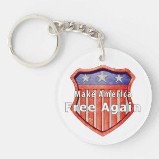 Make America Free Again Keychain