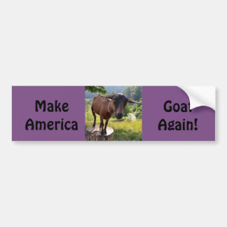 Make America Goat Again Bumper Sticker