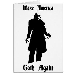 make america goth again card