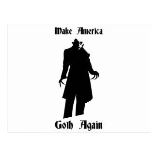 make america goth again postcard