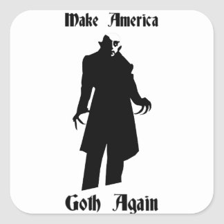 make america goth again square sticker