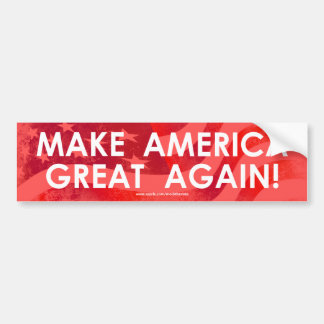 Make America Great Again - Bumper Sticker (Flag)