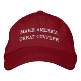 MAKE AMERICA GREAT COVFEFE | funny red cotton cap