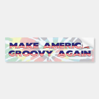 Make America Groovy Again Tie-Dye Bumper Sticker