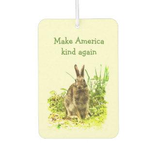 Make America Kind Again Bunny Rabbit Air Freshener