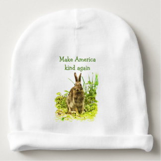 Make America Kind Again Bunny Rabbit Baby Beanie