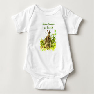 Make America Kind Again Bunny Rabbit Baby Bodysuit