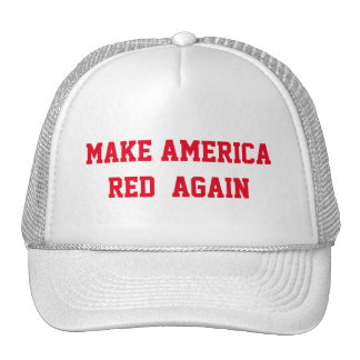 MAKE AMERICA RED AGAIN TRUCKER HAT