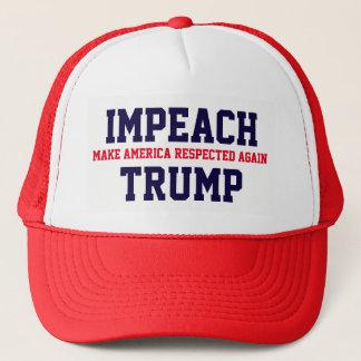 """Make America Respected Again. Impeach Trump"" Trucker Hat"