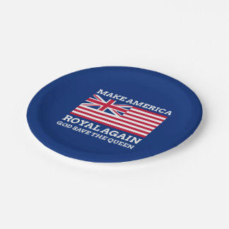 Make America Royal Again Paper Plate