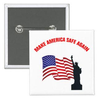 Make America Safe Again 2 Inch Square Button