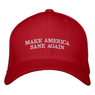Make America Sane Again Embroidered Hat