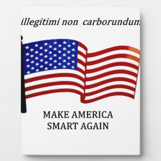 MAKE AMERICA SMART PLAQUE