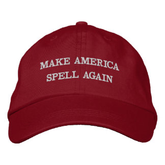 MAKE AMERICA SPELL AGAIN | funny red cotton cap Embroidered Hat