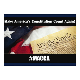 Make America's Constitution Count Again! #MACCA Card