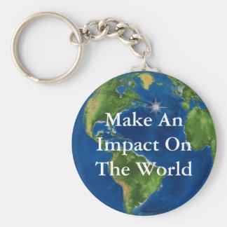 Make An Impact Basic Round Button Keychain