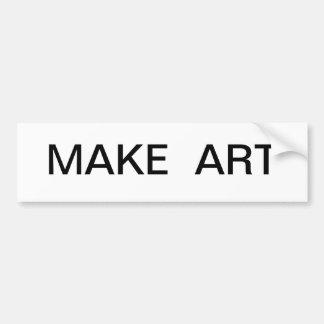 Make Art Bumper Sticker