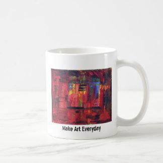 Make Art Everyday Basic White Mug