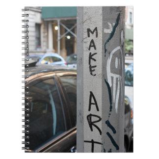 MAKE ART New York Graffiti Street Photography NYC Notebook