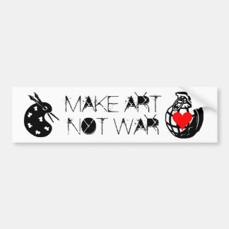 MAKE ART NOT WAR BUMPER STICKER