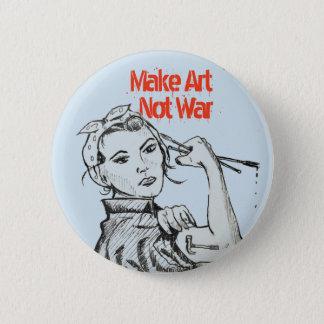Make Art Not War button