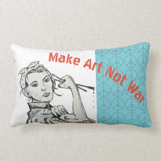 Make Art Not War pillow