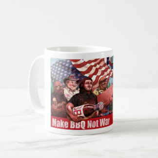 Make BBQ Not War Mug