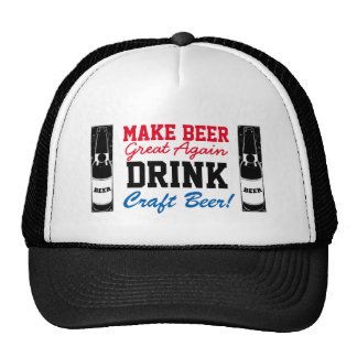 Make Beer Great Again Drink Craft Beer RWB Trucker Hat