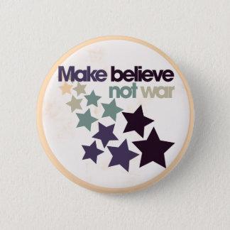 Make believe not war 2 inch round button