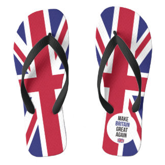 Make Britain Great Again UK First Flag Brexit Flip Flops