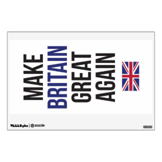 Make Britain Great Again UK First Flag Brexit Wall Sticker