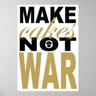 make cakes not war poster