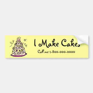 Make Cakes to Order Bumper Sticker