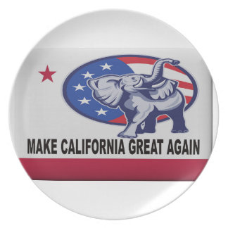 Make California Great Again Plate
