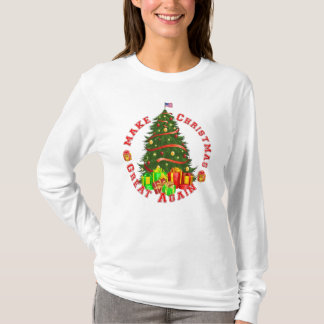 Make Christmas Great Again Trump Green Red Yellow T-Shirt
